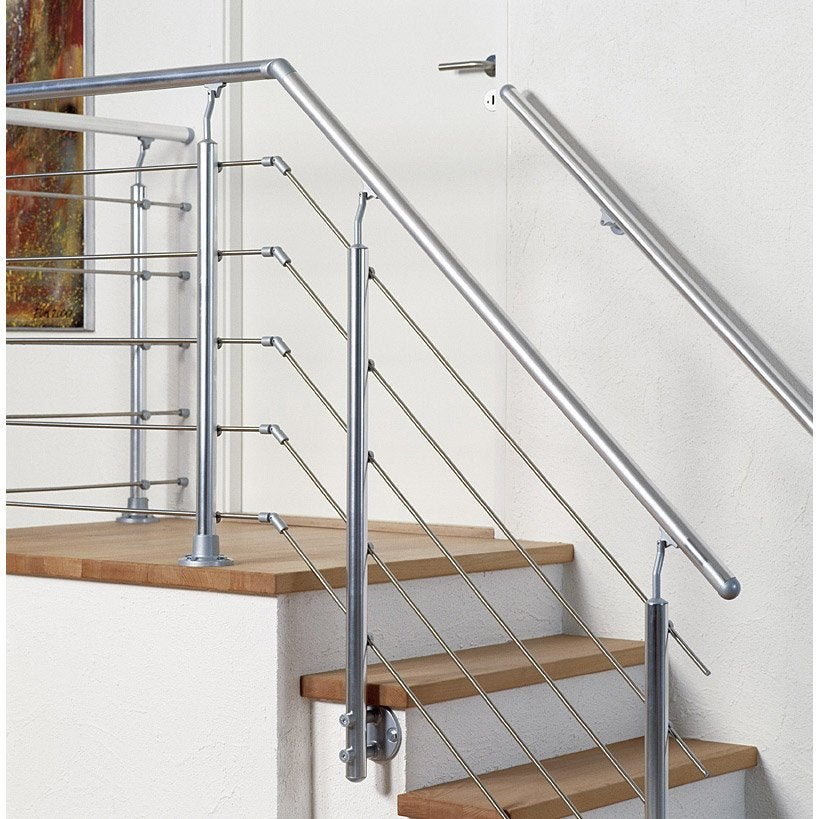 Balustrade rolo gris obapi leroy merlin for Hauteur balustrade
