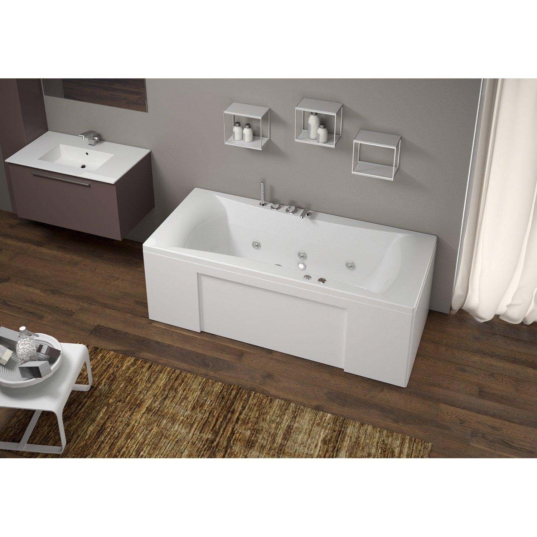 baignoire baln o rectangulaire tablier et robi cm thala confort leroy merlin. Black Bedroom Furniture Sets. Home Design Ideas