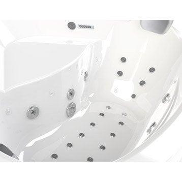 baignoire baln o angle allibert chromomix 140 x 140 cm. Black Bedroom Furniture Sets. Home Design Ideas