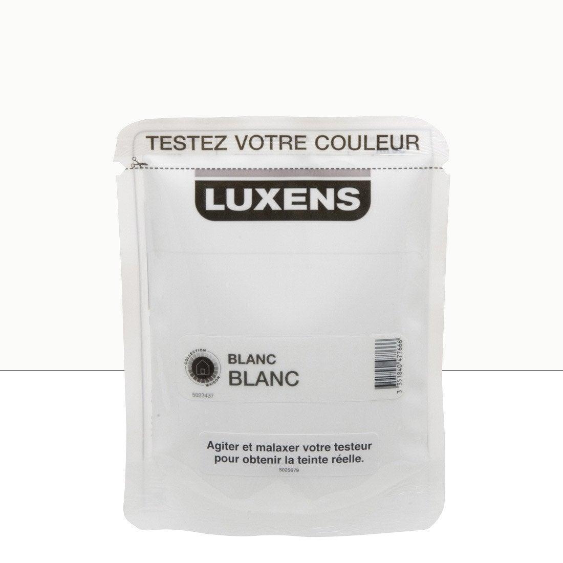 Testeur peinture blanc blanc 0 luxens couleurs int rieures - Peinture luxens blanc satin ...