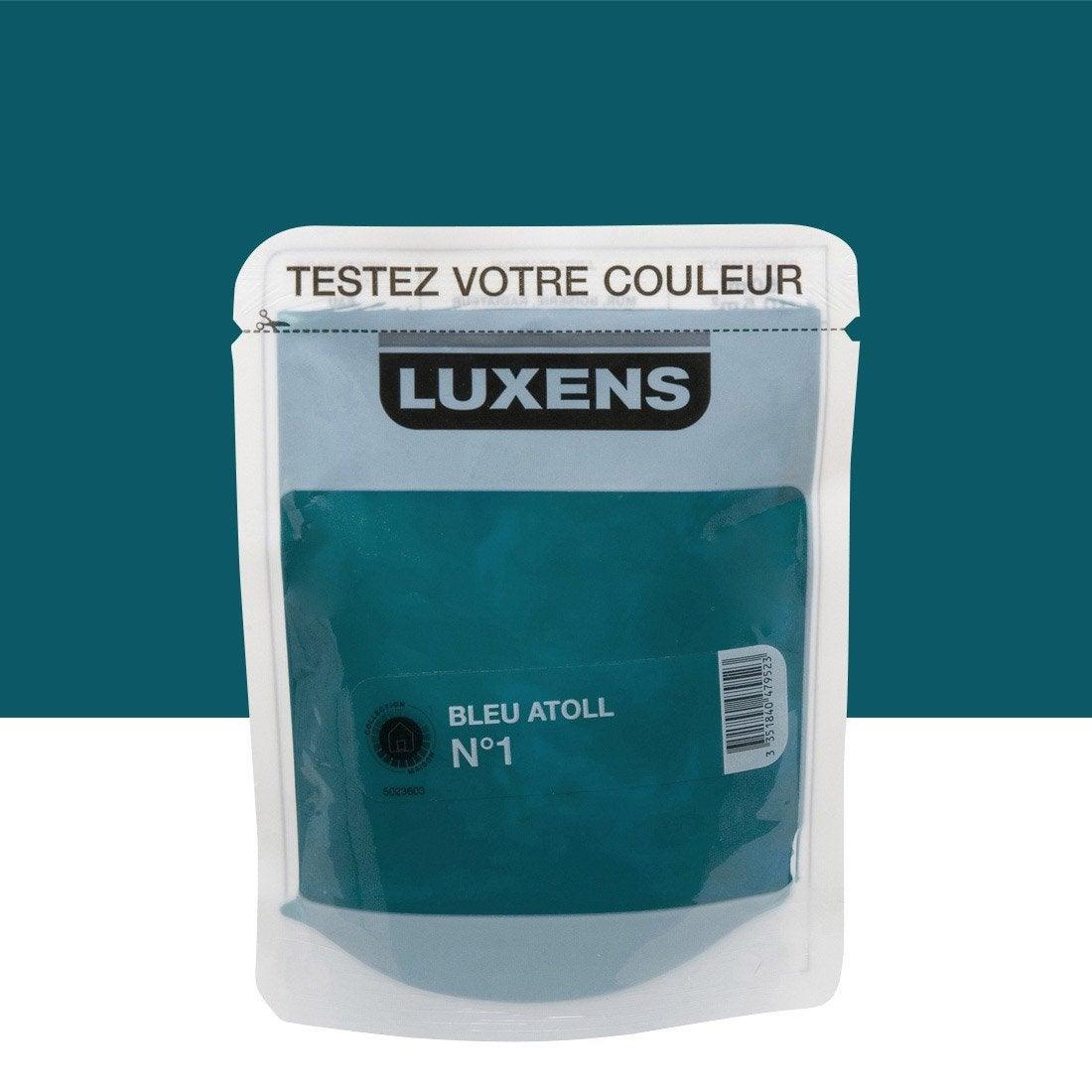 Testeur Peinture Couleurs Int Rieures Satin Luxens Bleu Atoll N 1 L Leroy Merlin