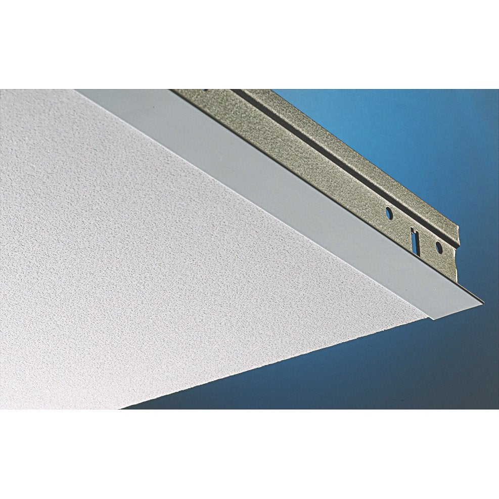 Plaque plaza pixel blanc 60x60 cm leroy merlin for Plafond suspendu dalle