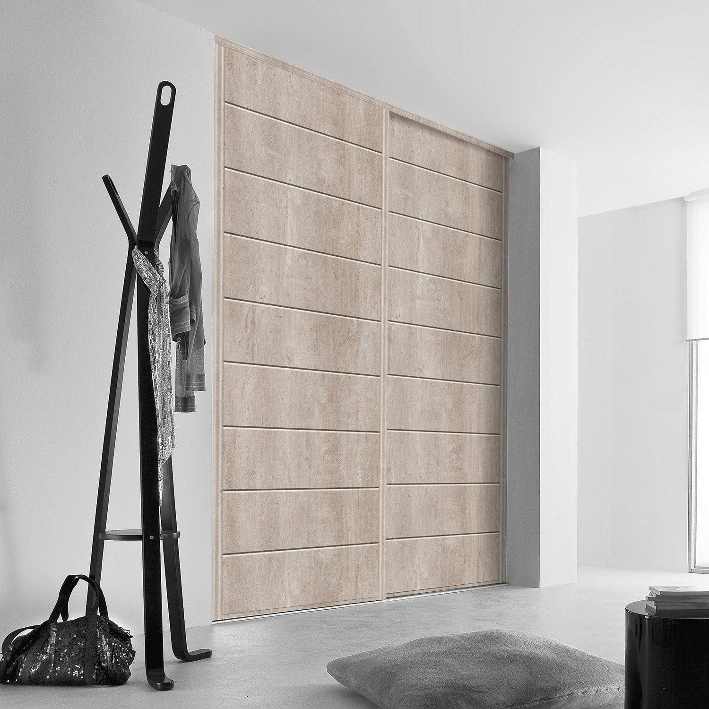 Porte de placard coulissante sur mesure kazed traditionnel de 38 60 cm le - Porte garage sur mesure leroy merlin ...