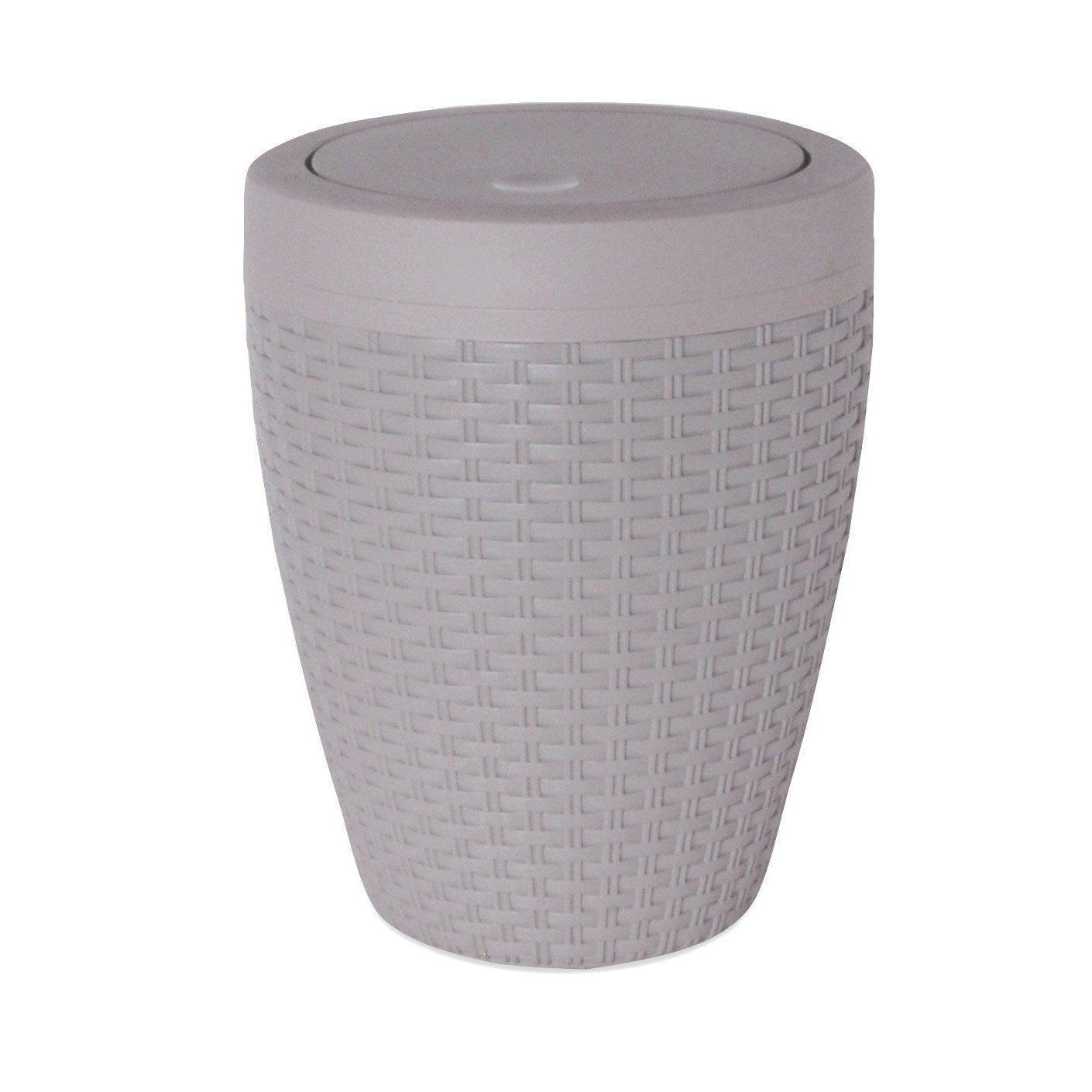poubelle de salle de bains 6 l gris gris 4 sensea cottage leroy merlin. Black Bedroom Furniture Sets. Home Design Ideas