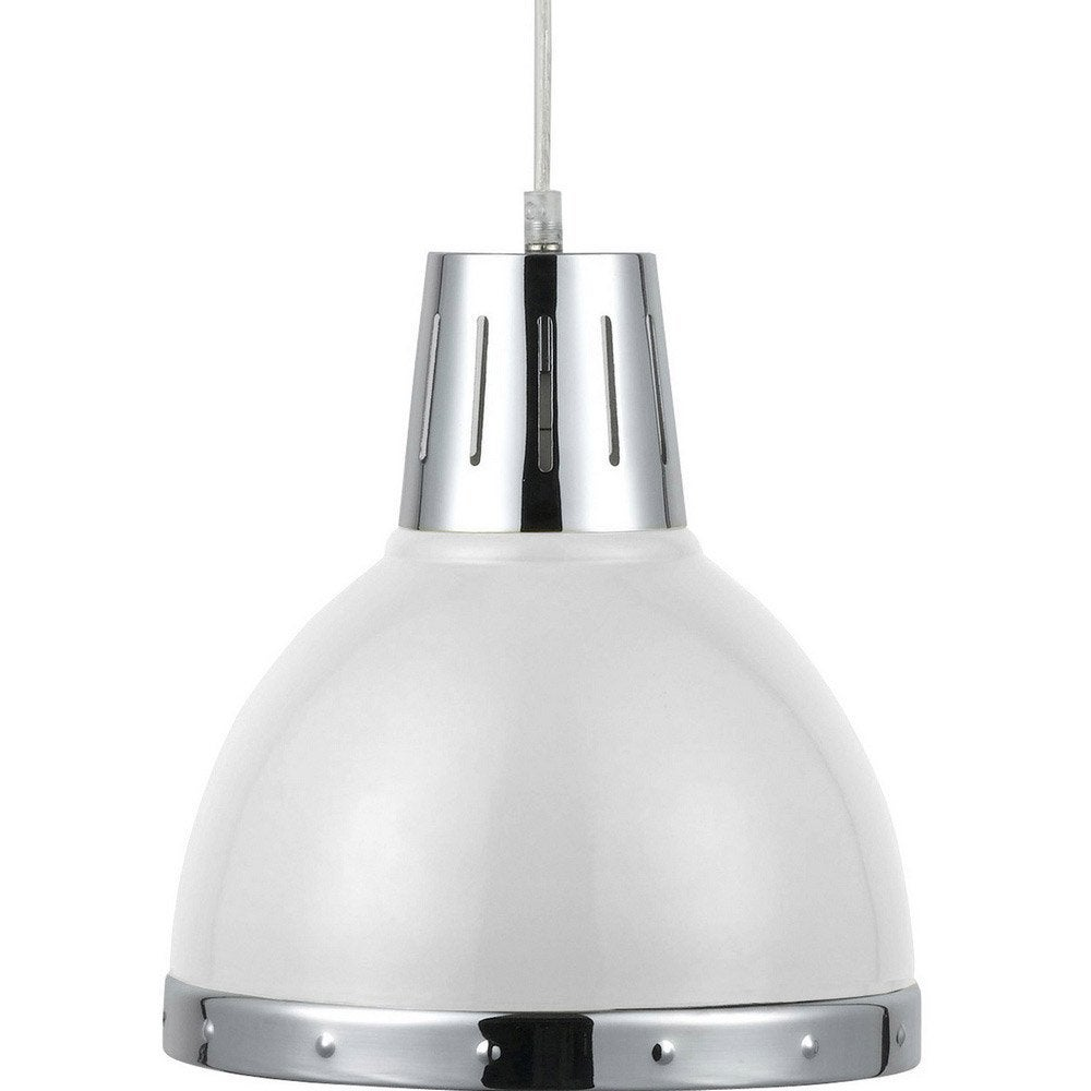 Suspension design cynthia m tal blanc 1 x 40 w seynave leroy merlin - Suspensions leroy merlin ...