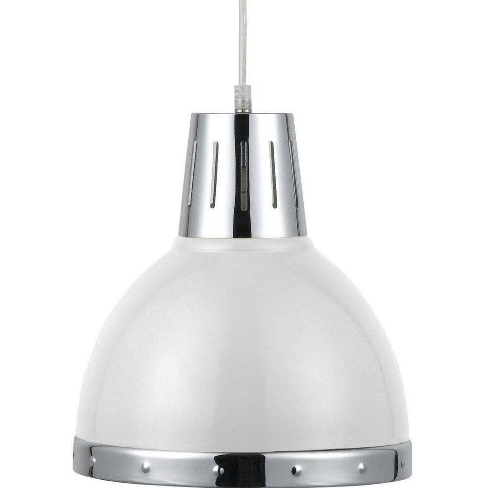 suspension e27 design cynthia m tal blanc 1 x 40 w seynave leroy merlin. Black Bedroom Furniture Sets. Home Design Ideas