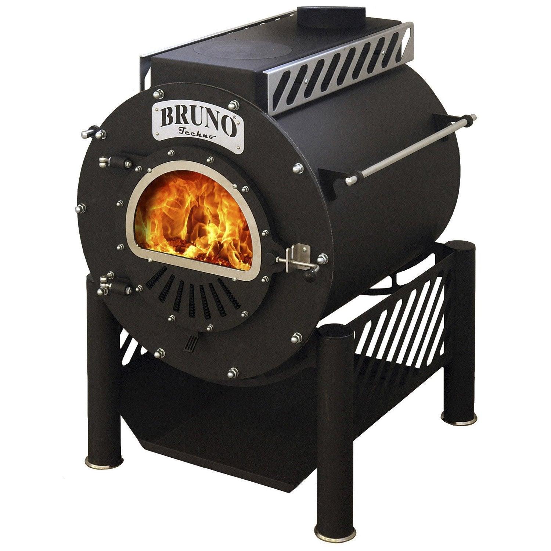 Poêle à bois BRUNO Techno 00, 10 kW  Leroy Merlin