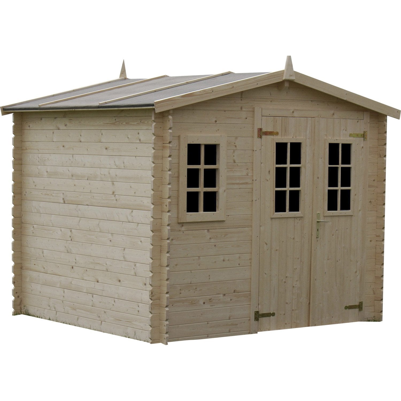 abri de jardin en bois luby m p 28 mm leroy merlin. Black Bedroom Furniture Sets. Home Design Ideas