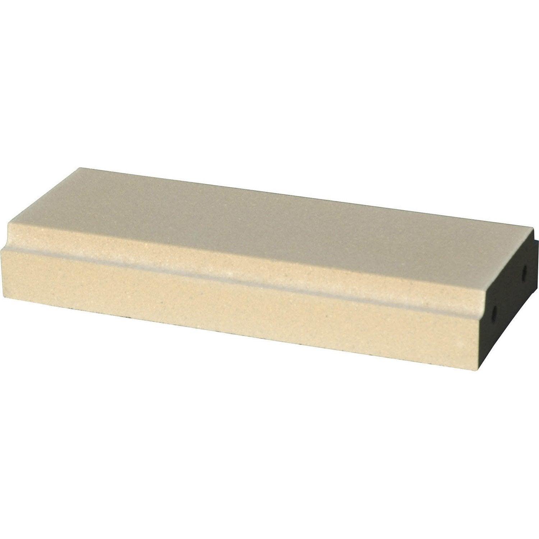 lisse antibes cannes arcadia en b ton blanc x h 7 5 x cm leroy merlin. Black Bedroom Furniture Sets. Home Design Ideas