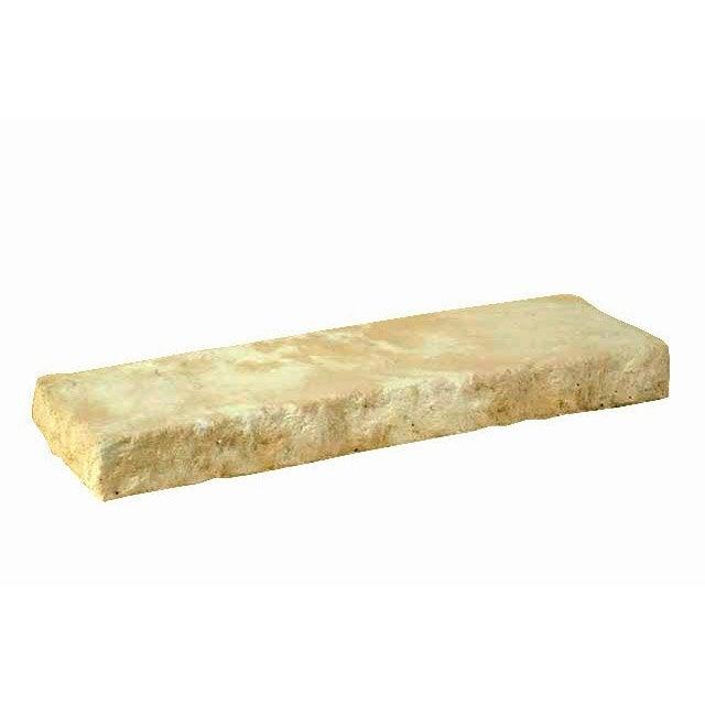 Couvre mur droit armoroc en pierre reconstitu e naturel - Banc en pierre leroy merlin ...
