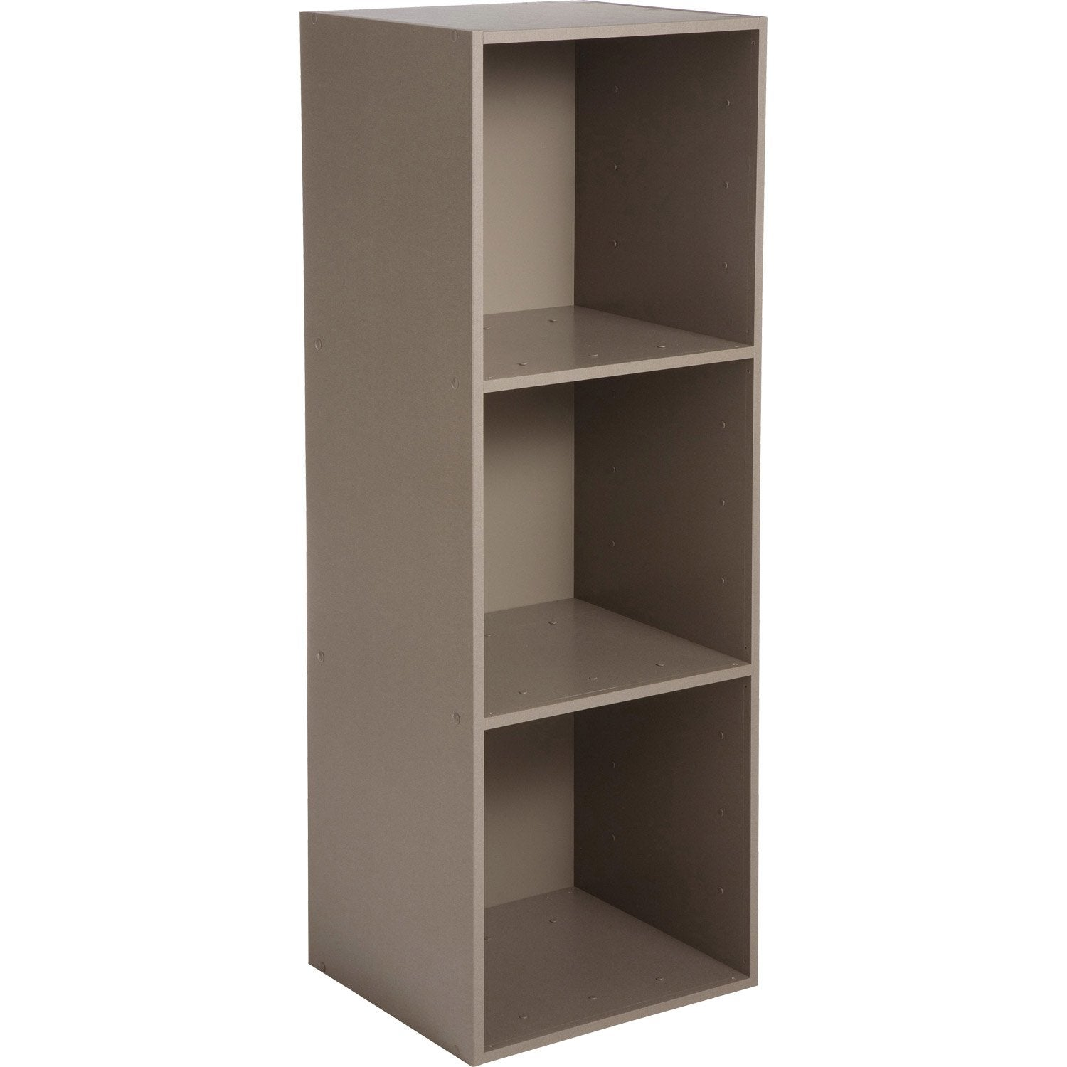 Etag re 3 cases multikaz taupe x x cm leroy merlin - Etagere bois leroy merlin ...