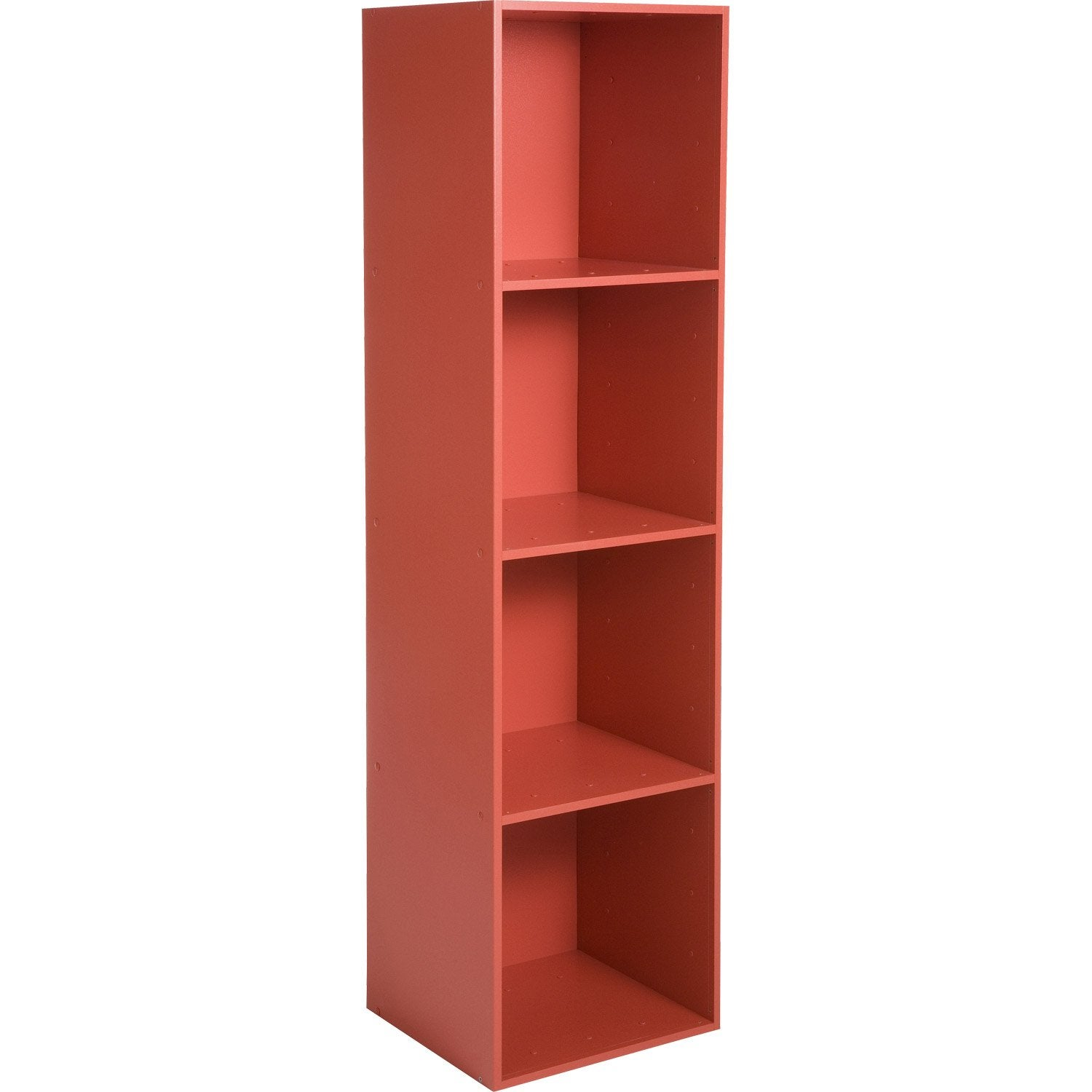 Etag re 4 cases multikaz rouge x x for Leroy merlin etagere salle de bain