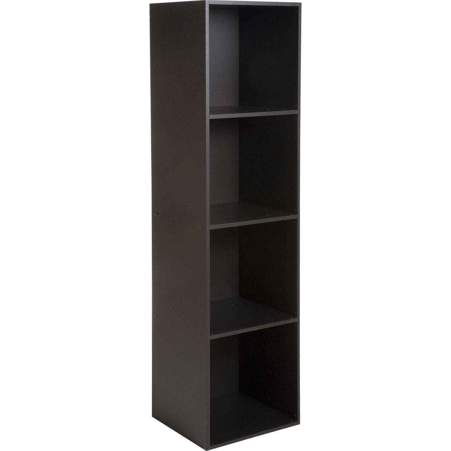 Etag re 4 cases multikaz noir x x - Meuble etagere noir ...