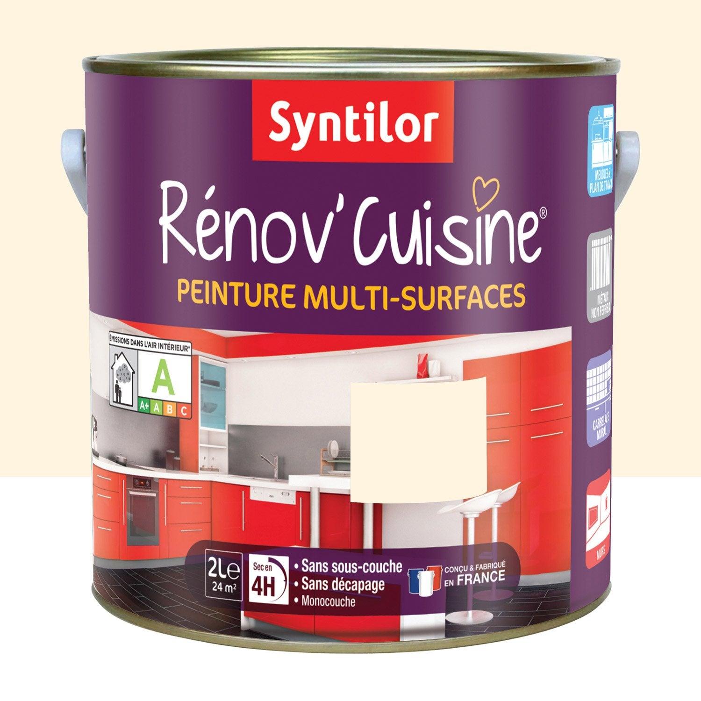 peinture rénov'cuisine syntilor, beige vanille, 2 l | leroy merlin - Meuble Cuisine Couleur Vanille