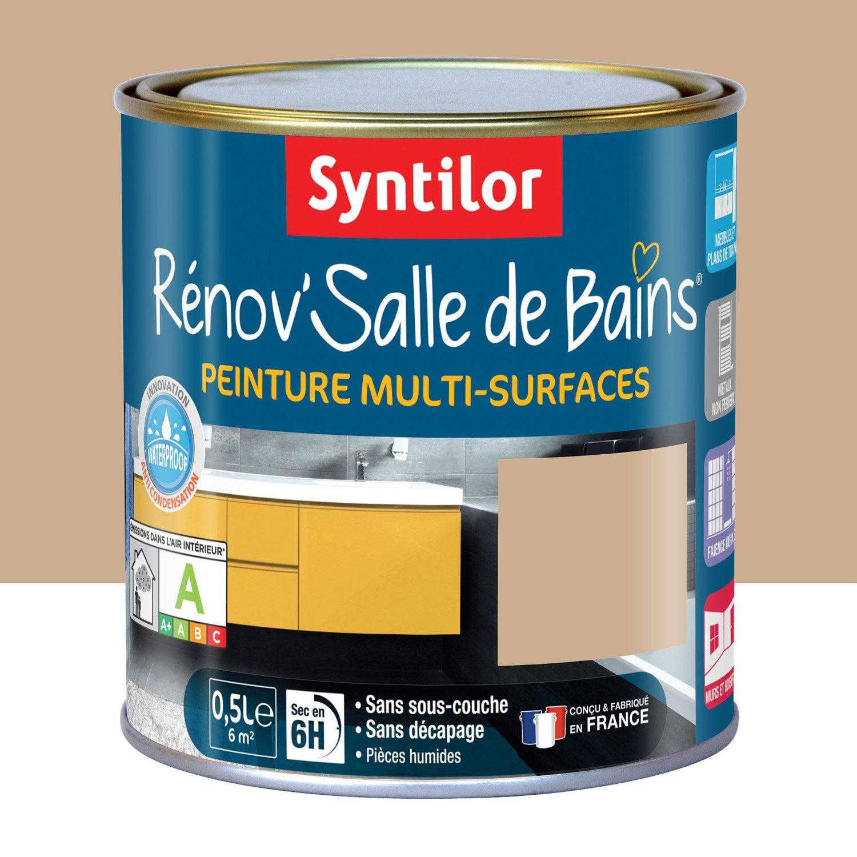 Peinture r nov 39 salle de bains syntilor beige sabl 0 5 l for Renov cuisine leroy merlin