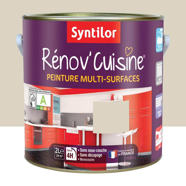 peinture r nov 39 cuisine syntilor beige gingembre 2l leroy merlin. Black Bedroom Furniture Sets. Home Design Ideas