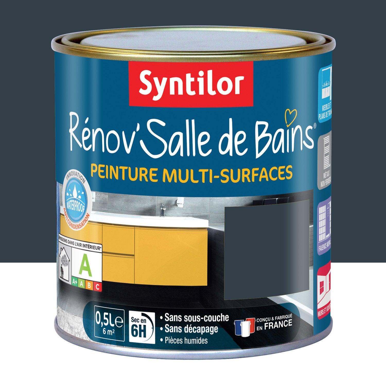 Peinture r nov 39 salle de bains syntilor gris granit 0 5 l for Peinture hydrofuge salle de bain leroy merlin