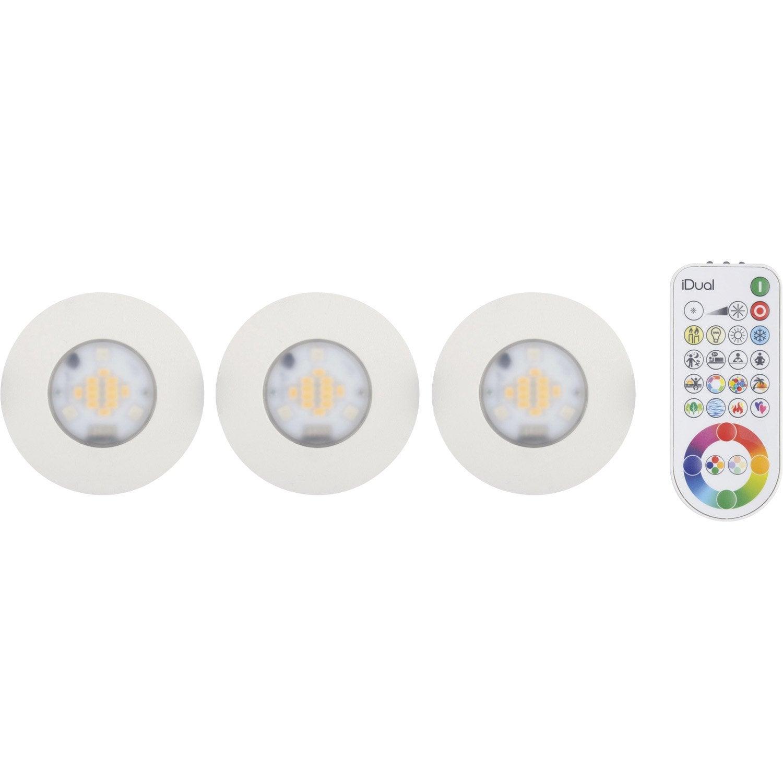 Kit 3 spots à encastrer salle de bains Idual fixe led JEDI LED