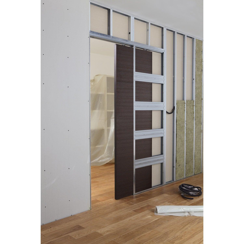 Syst me galandage aluminium artens pour porte de largeur for Porte coulissante 93 cm