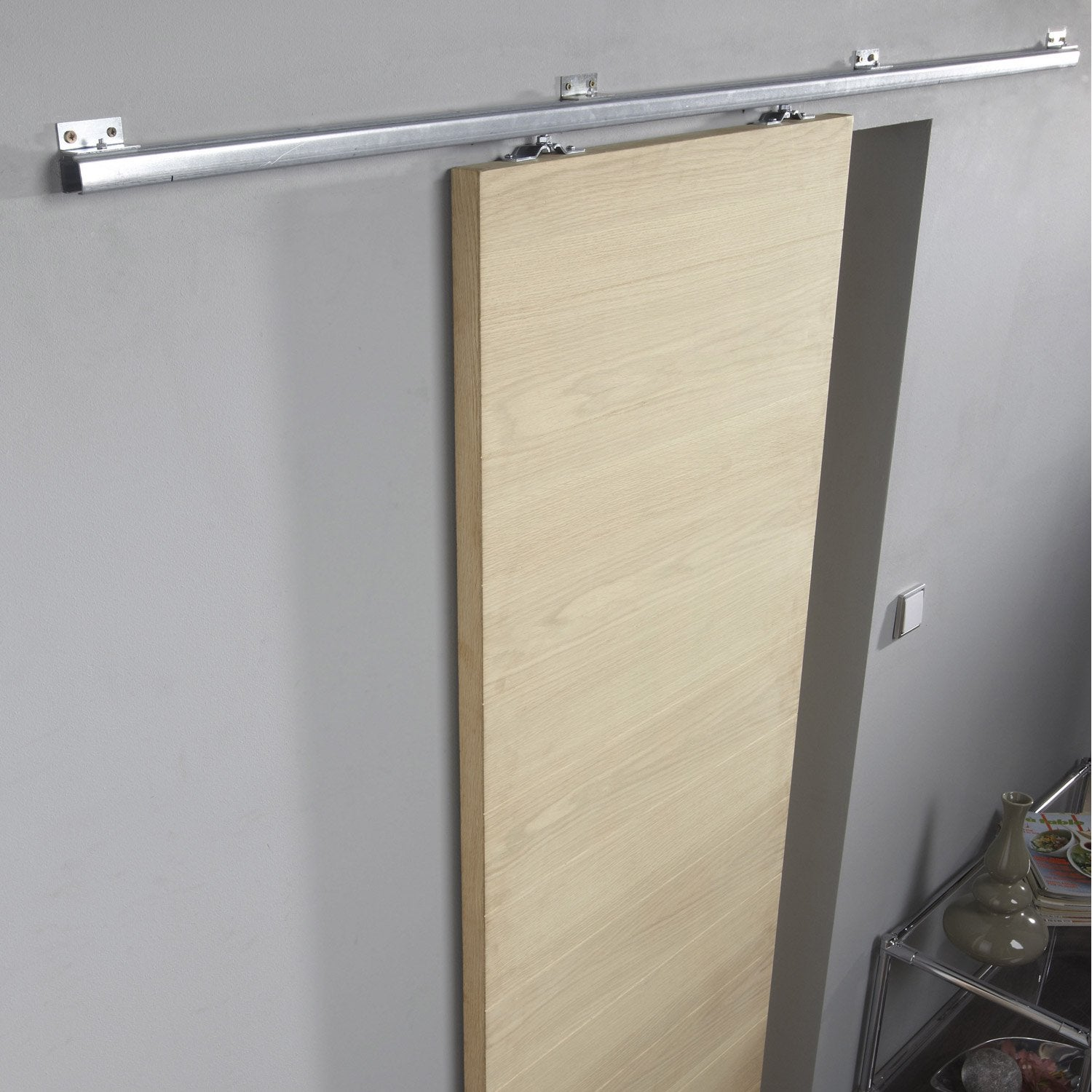 Rail coulissant tango artens pour porte de largeur 93 cm for Porte 60 cm de large