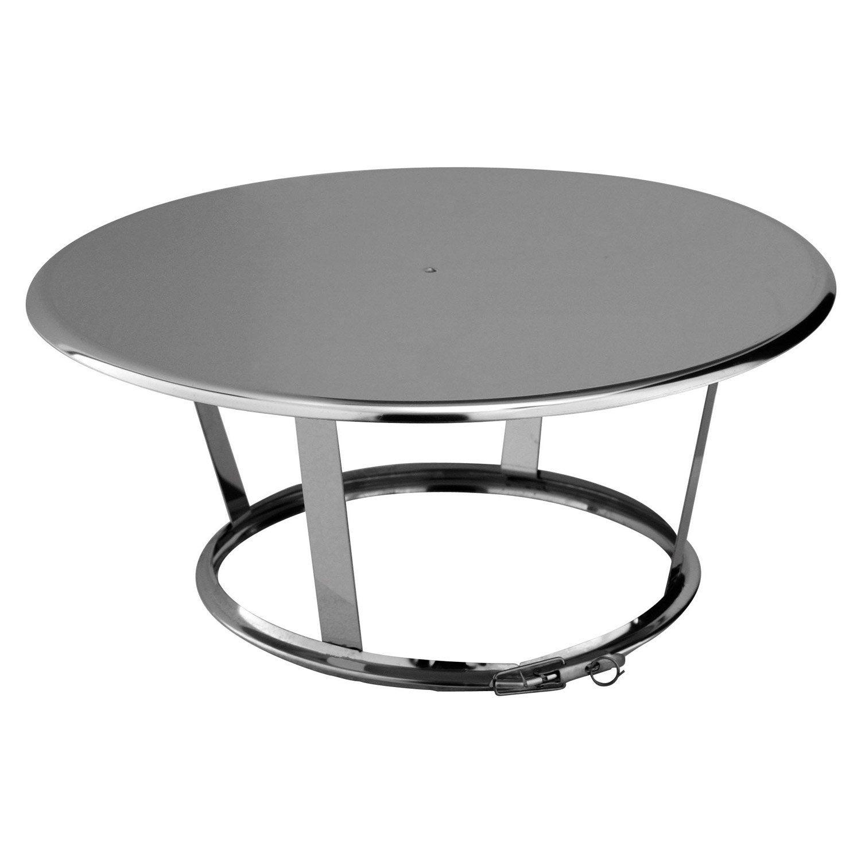 chapeau pare pluie simple poujoulat 150 mm leroy merlin. Black Bedroom Furniture Sets. Home Design Ideas