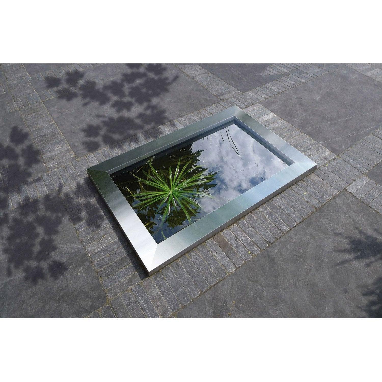 bassin pr form ubbink quadra inox l x l 1 2 m x p 2. Black Bedroom Furniture Sets. Home Design Ideas