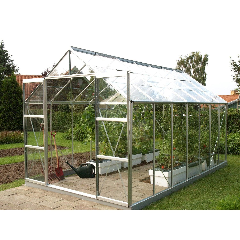 Serre de jardin en verre trempé Uranus gris 11 437 m²