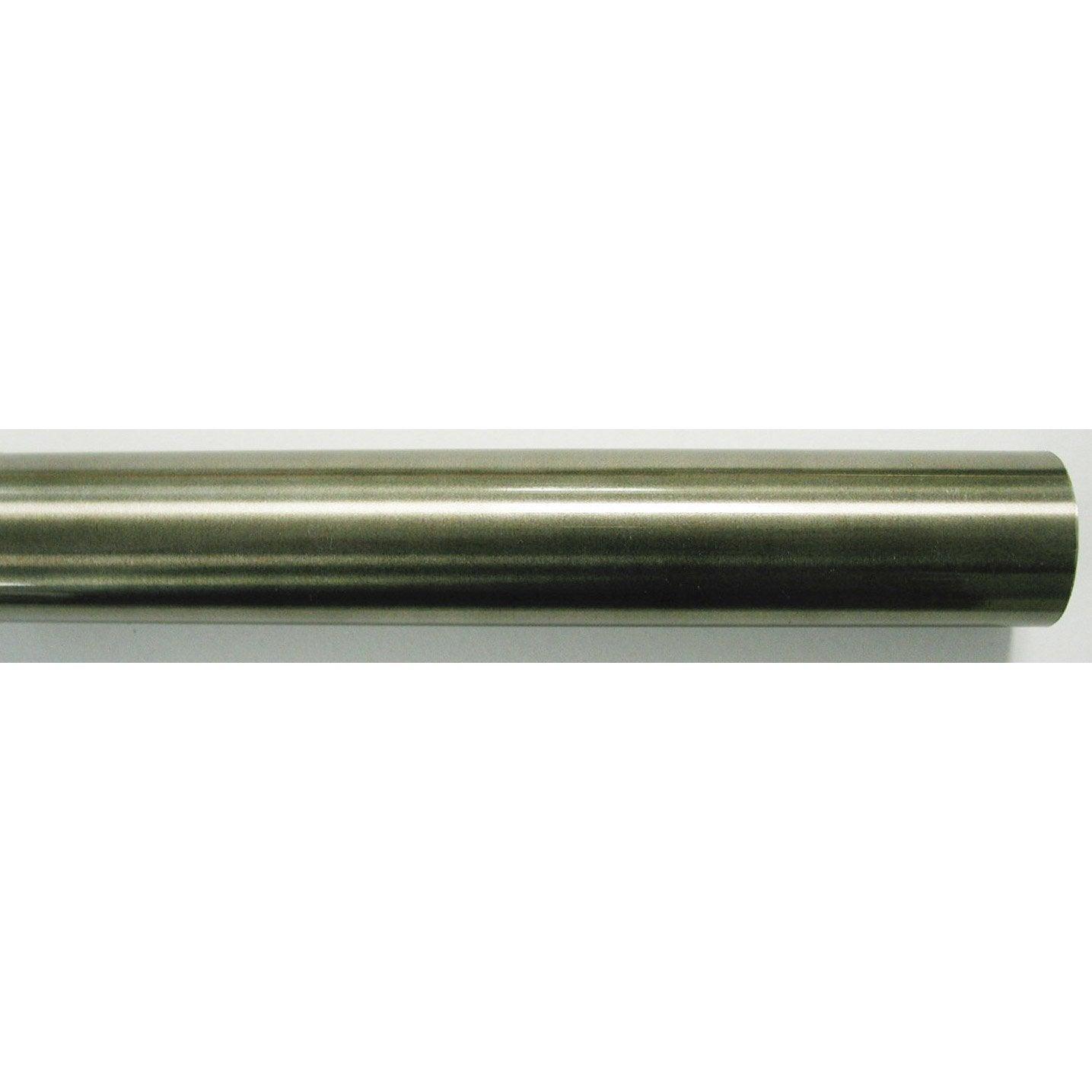 tringle 224 rideau inspire inox 233 tain verni diam 28 mm 200 cm leroy merlin