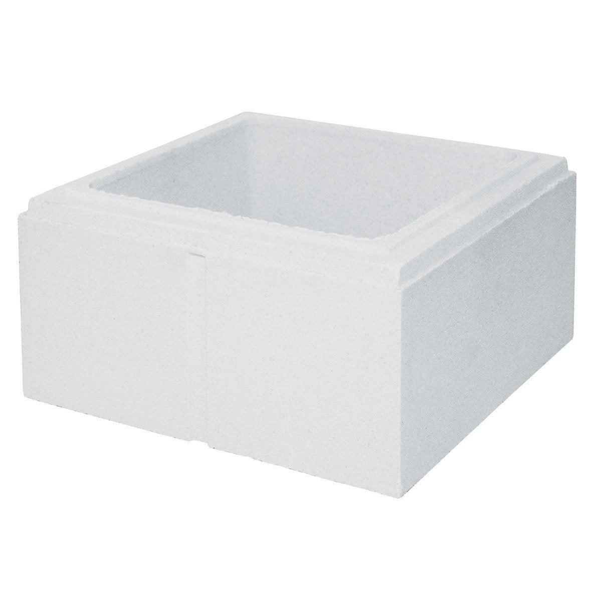 pilier monaco ibiza menton en b ton blanc leroy merlin. Black Bedroom Furniture Sets. Home Design Ideas