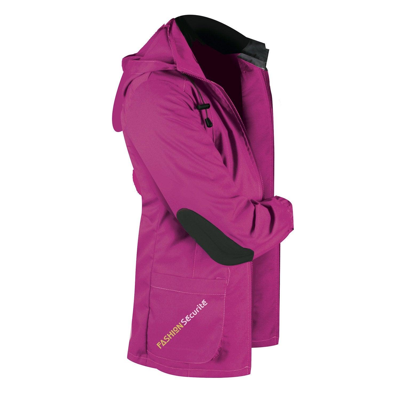veste de travail fashion securite pep 39 s rose noir taille 40 42 leroy merlin. Black Bedroom Furniture Sets. Home Design Ideas