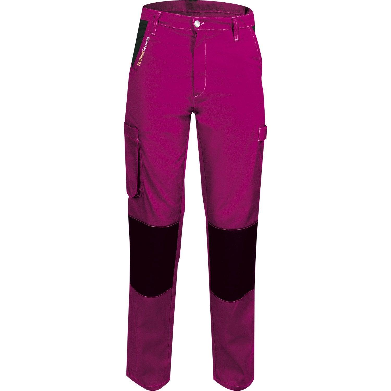pantalon de travail fashion securite pep 39 s rose noir. Black Bedroom Furniture Sets. Home Design Ideas
