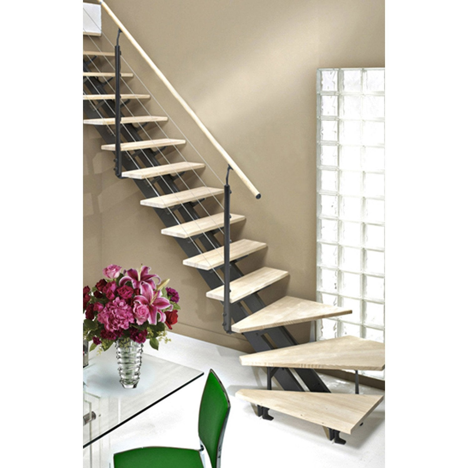 Escalier quart tournant escatwin structure aluminium for Escalier tournant