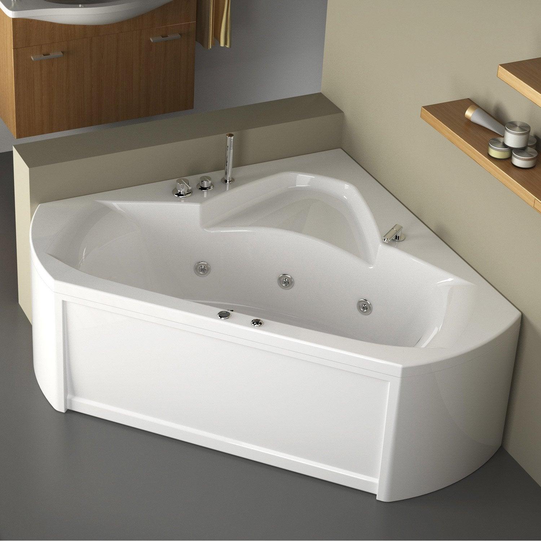 Baignoire baln o avec tablier angle thala confort 140 x 140 cm leroy merlin - Baignoire d angle 140 x 140 ...