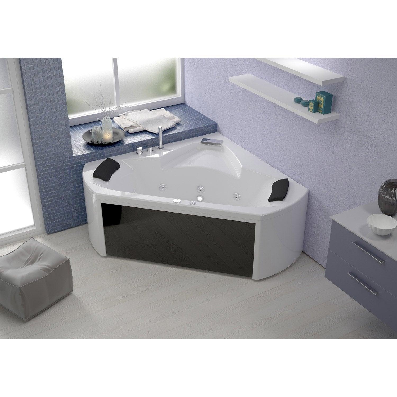 Baignoire baln o angle cm thala massplus for Salle de bain jacuzzi