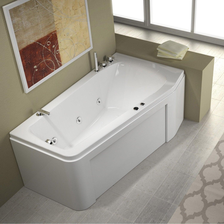 baignoire baln o avec tablier asym trique droit thala. Black Bedroom Furniture Sets. Home Design Ideas