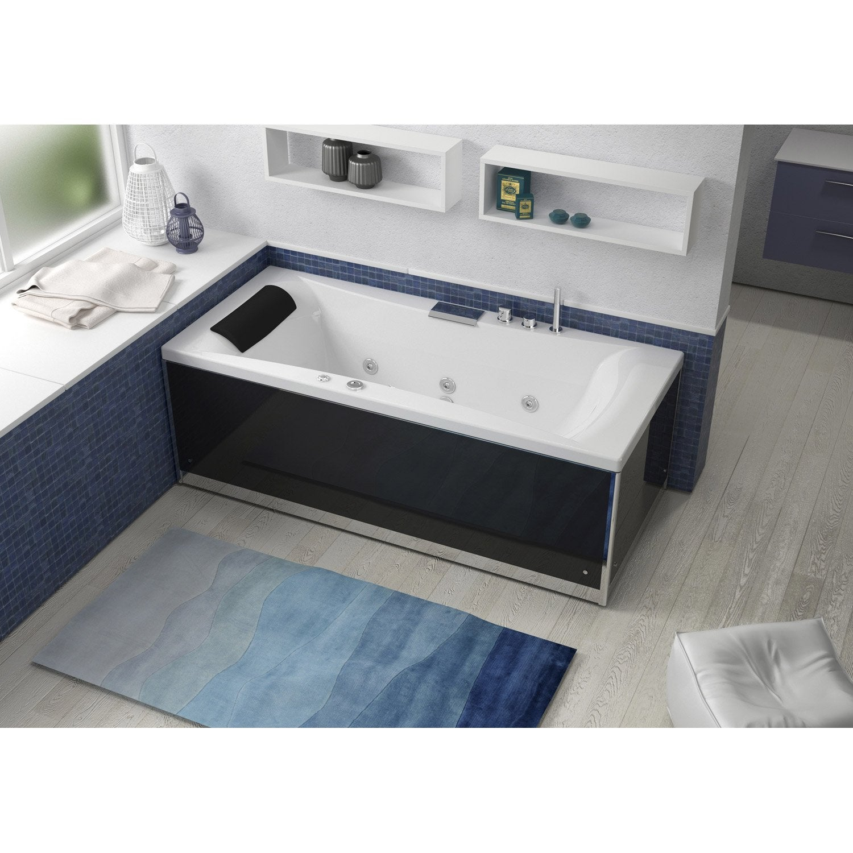 baignoire baln o avec tablier rectangulaire cm thala massplus leroy merlin. Black Bedroom Furniture Sets. Home Design Ideas