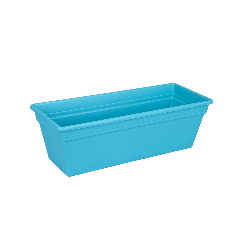 jardini re en plastique naterial l x h 16 2 x l cm bleu turquoise leroy merlin. Black Bedroom Furniture Sets. Home Design Ideas
