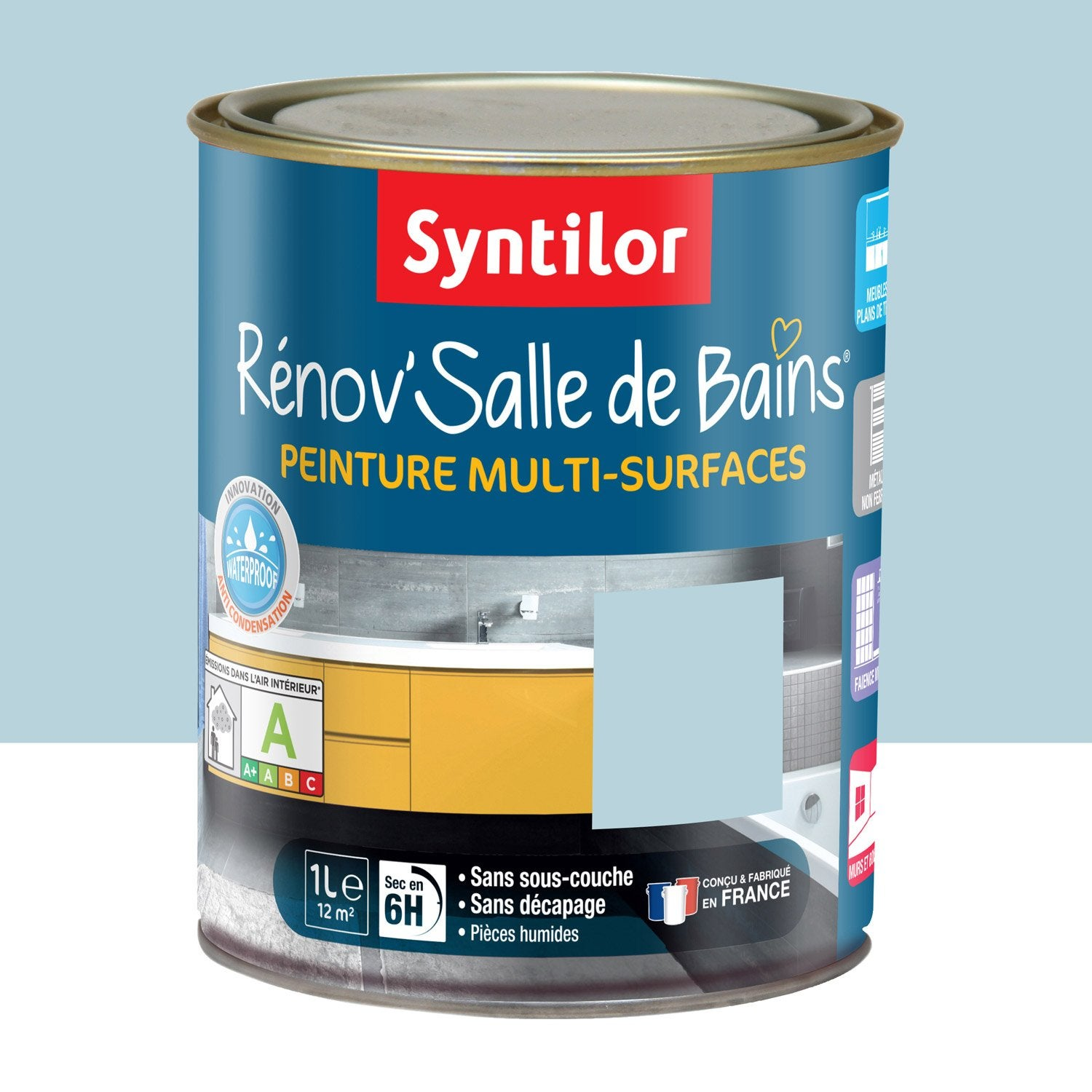 peinture r nov 39 salle de bains syntilor bleu mosa que 1 l. Black Bedroom Furniture Sets. Home Design Ideas