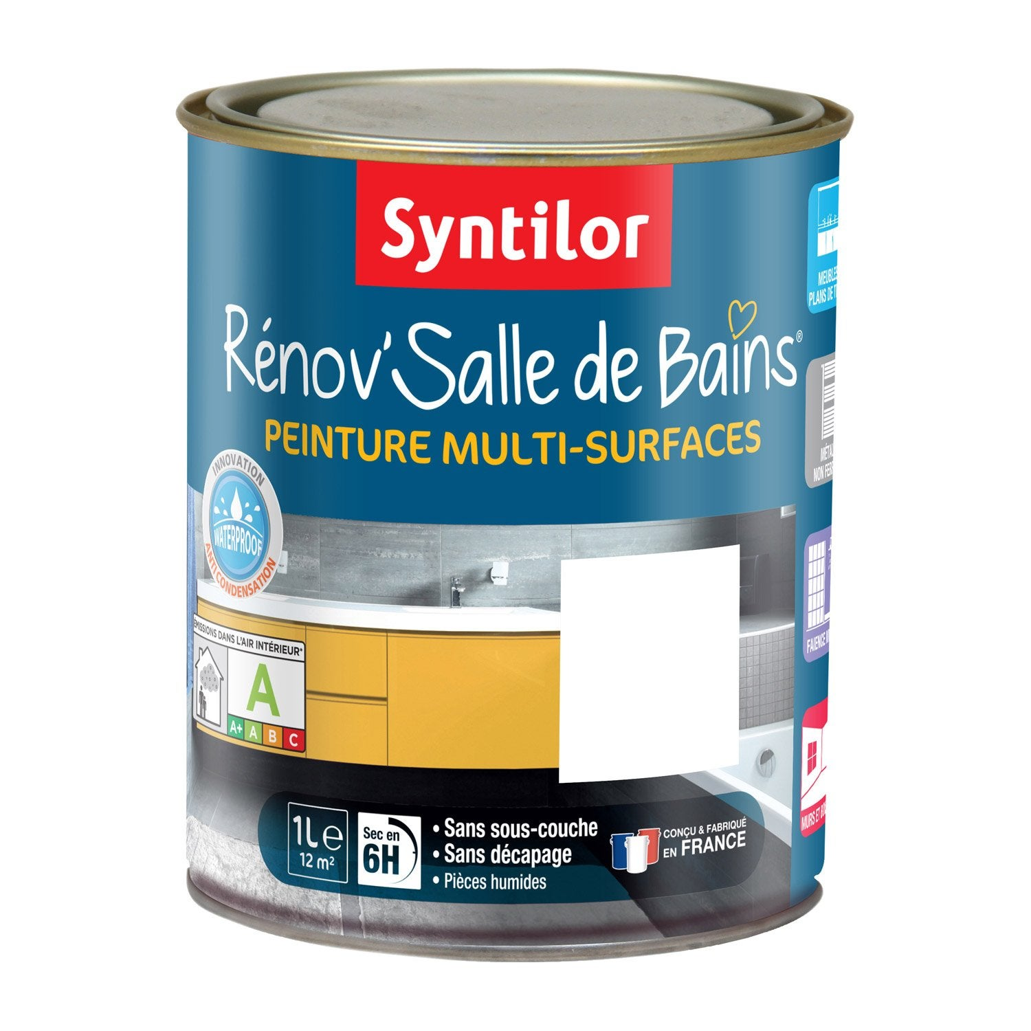peinture r nov 39 salle de bains syntilor blanc 1 l leroy merlin. Black Bedroom Furniture Sets. Home Design Ideas