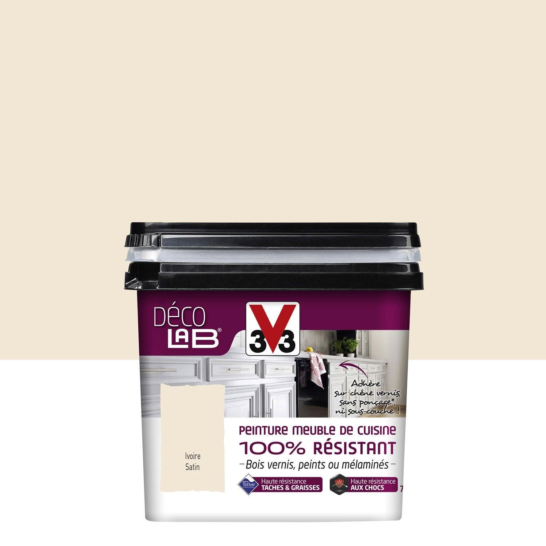 Peinture d colab meuble de cuisine 100 r sist v33 blanc for Peinture meubles cuisine v