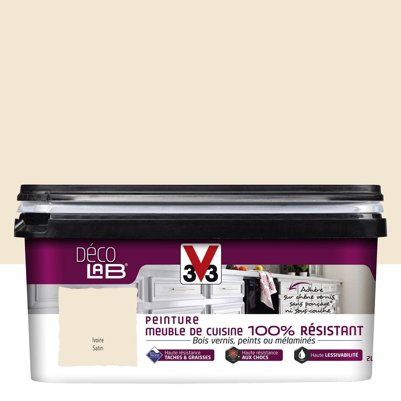 Peinture d colab meuble de cuisine 100 r sist v33 blanc - Peinture pour meuble de cuisine v33 ...