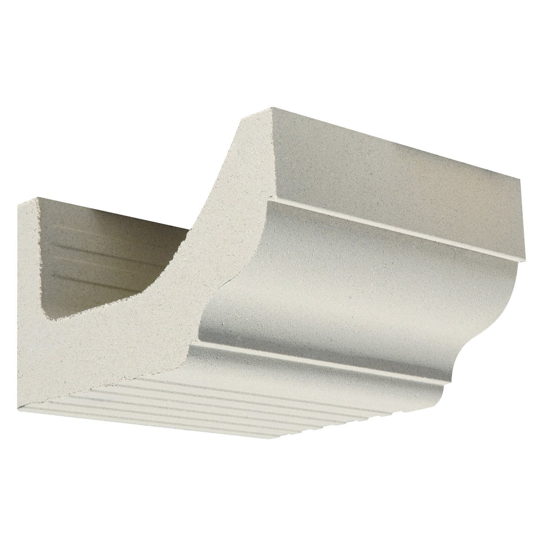 Corniche cr profil quart de rond droit blanc cass for Quart de rond polystyrene