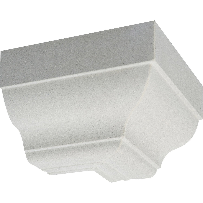 corniche cr profil quart de rond angle ext rieur blanc cass leroy merlin. Black Bedroom Furniture Sets. Home Design Ideas