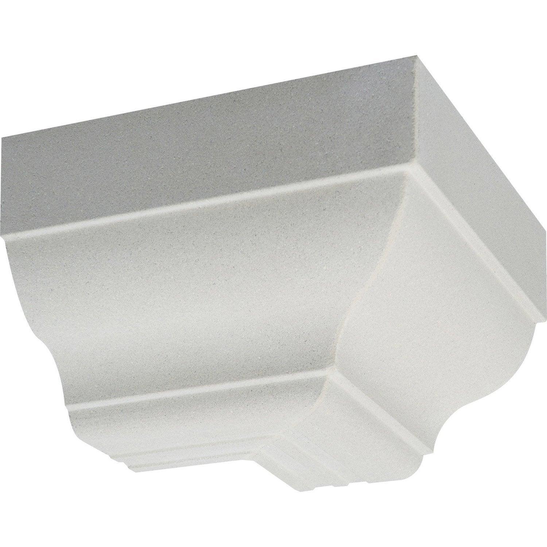 Corniche co profil doucine angle ext rieur blanc cass for Decoupe angle corniche