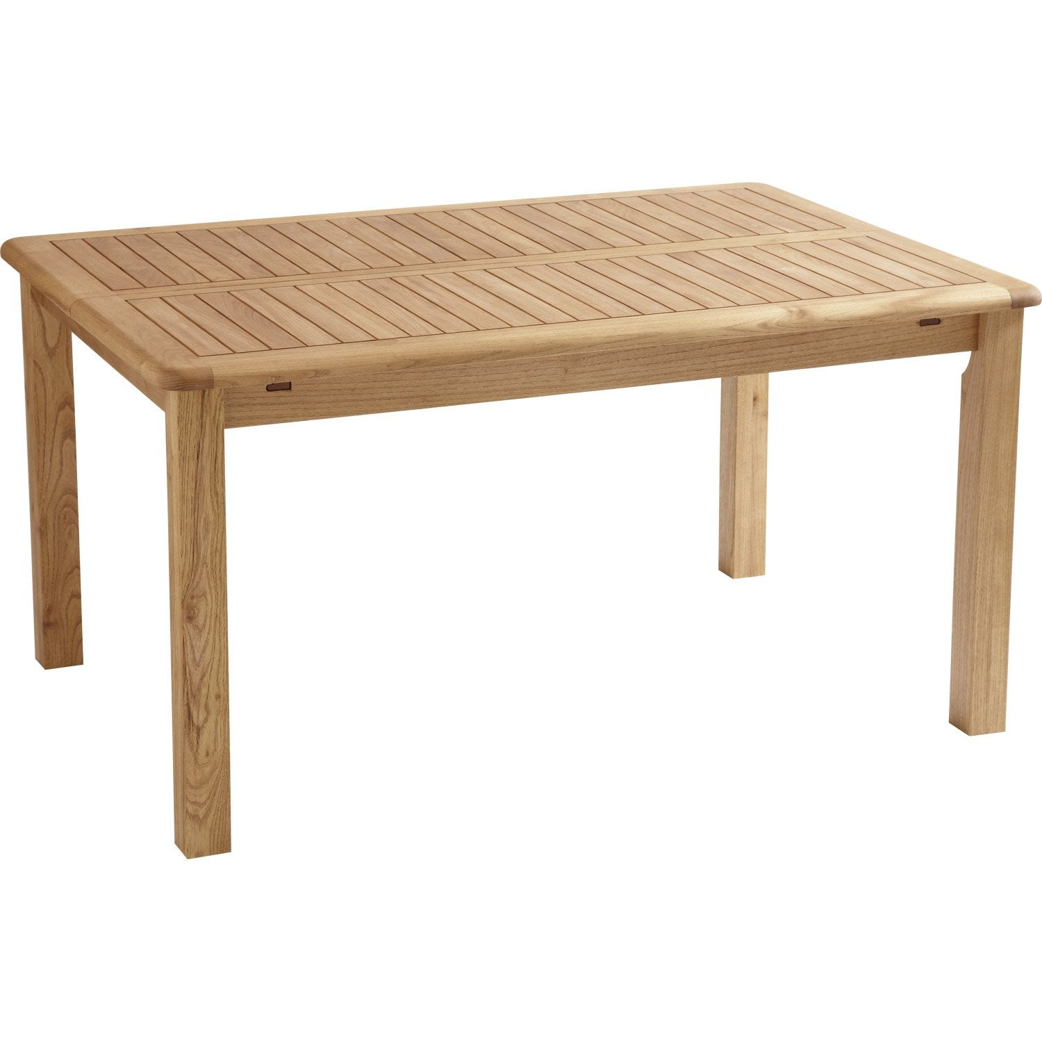 Table de jardin rectangulaire en bois - Table en bois rectangulaire ...