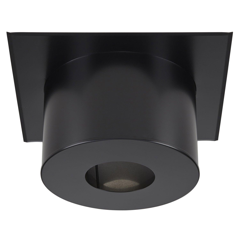 plaque finition plafond ronde noire mat fpc h260 ig 180 poujoulat 54x26 leroy merlin. Black Bedroom Furniture Sets. Home Design Ideas