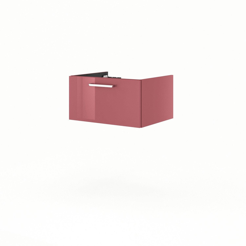Meuble sous vasque x x cm rouge neo line for Meuble sous vasque bois 60 cm