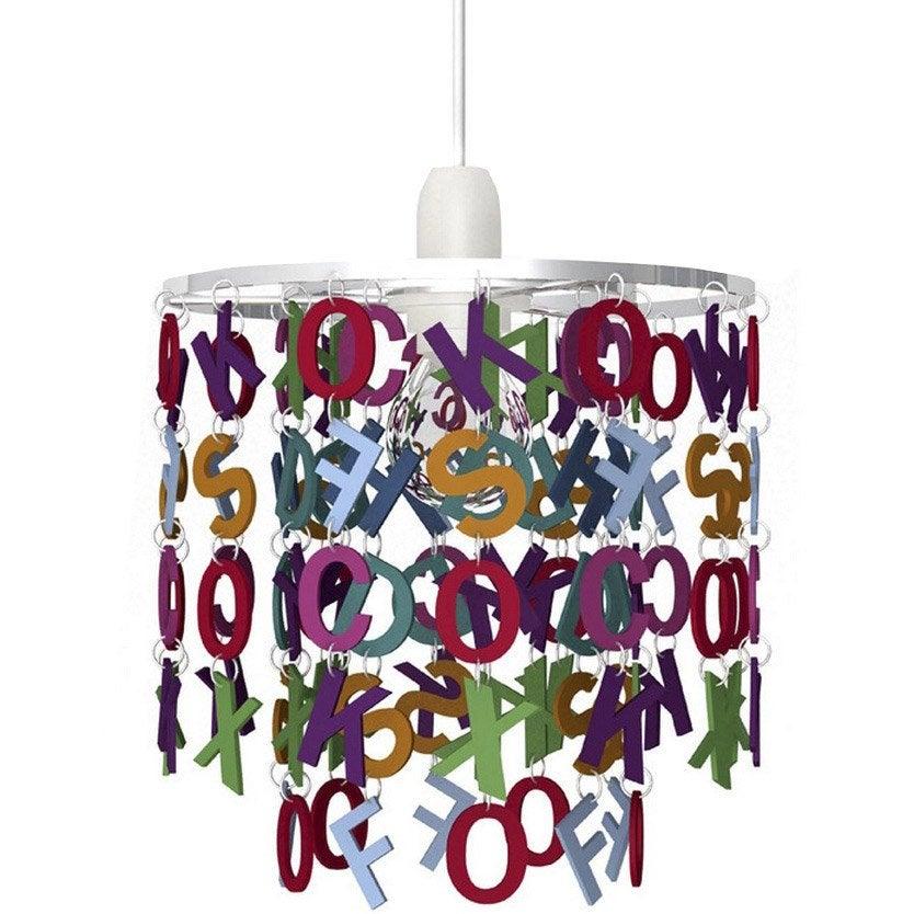 Suspension e27 enfant alphabet acrylique multicolore 1 x - Suspension leroy merlin ...