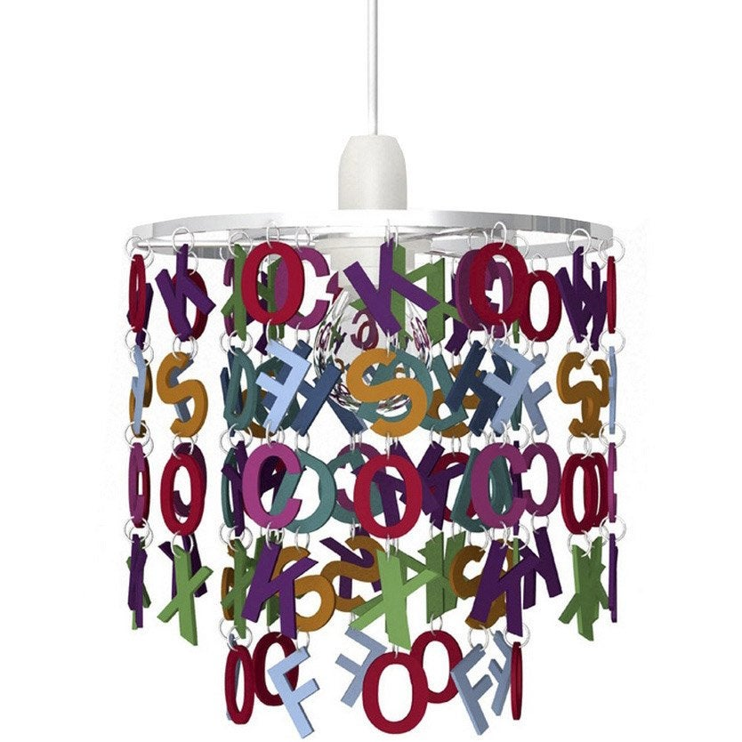 Suspension enfant alphabet acrylique multicolore 1 x 40 w seynave leroy merlin - Suspension new york leroy merlin ...