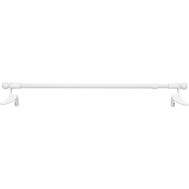 1 barre classic diam 9 mm blanc laqu 22 30 cm m tal - Barre metal leroy merlin ...